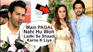 Varun Dhawan's SHOCKING Reaction On MARRYING Natasha Dalal At Sui Dhaaga Movie Promotions