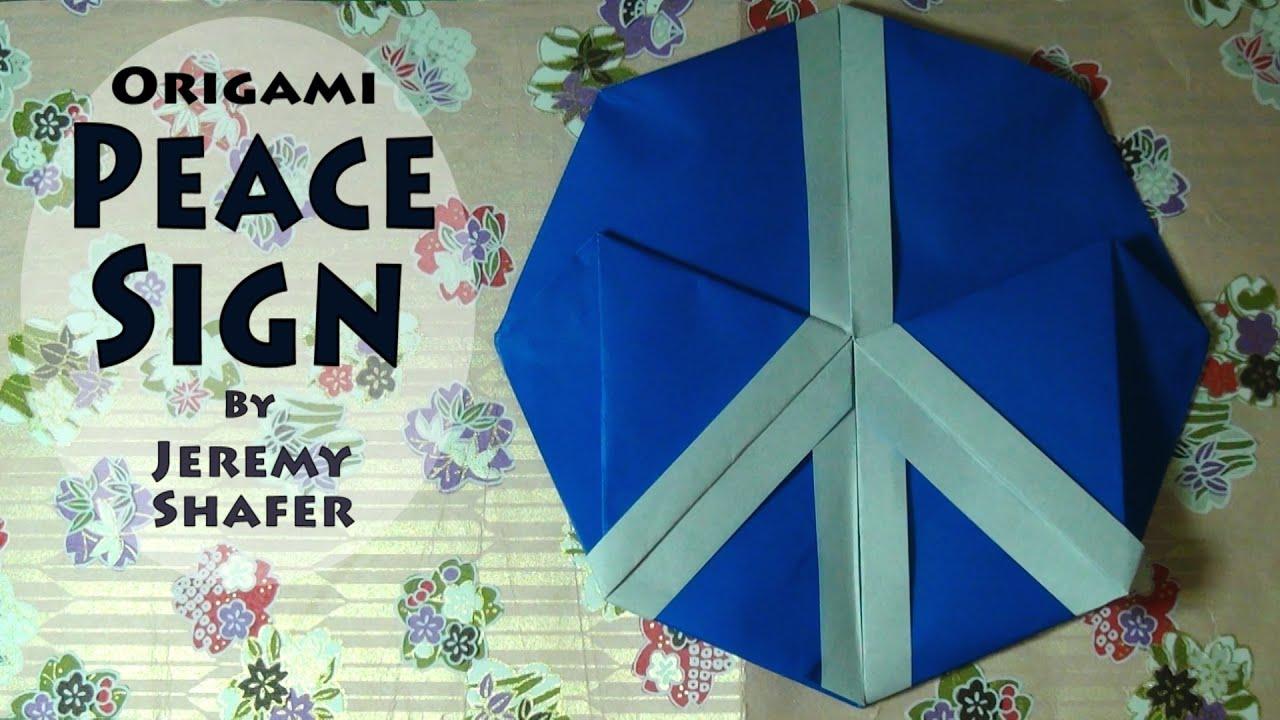 Fold a peace sign by jeremy shafer youtube fold a peace sign by jeremy shafer jeuxipadfo Gallery