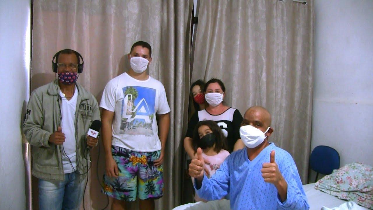 O caso do Pedreiro Cristiano que passa por um câncer, sensibiliza várias pessoas