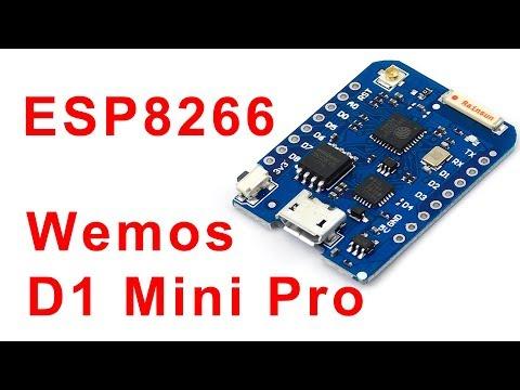 ESP8266 и Ардуино. Wemos D1 Mini Pro