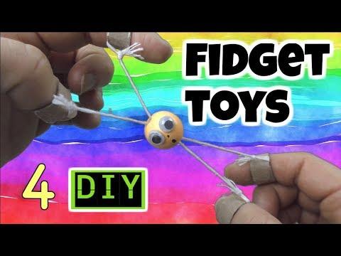 4 EASY DIY FIDGET TOYS - FUN DIYS -  DIY TOYS FOR KIDS TO MAKE FOR SCHOOL- HOUSEHOLD ITEMS