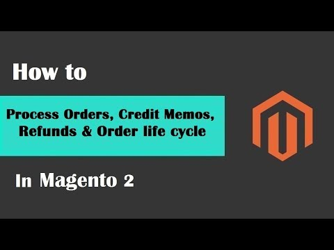 Magento 2 Tutorial Lesson #10 | How to Process Orders, Credit Memos, Refunds & Order life cycle