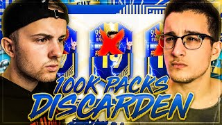 FIFA 19: 100k Packs TOTS Discard Fut Draft Battle ... 😱 vs Bossio 🔥
