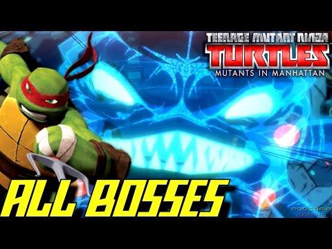 Teenage Mutants Ninja Turtles: Mutants in Manhattan - ALL BOSSES