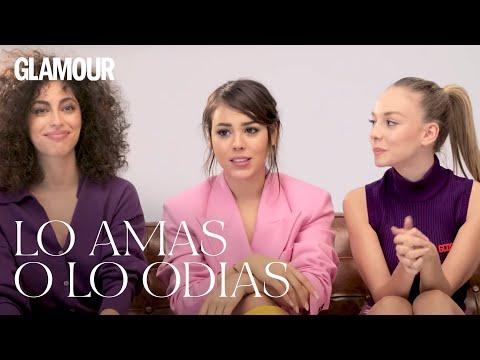 Las chicas de 'Élite' en 'Lo amas o lo odias' | Glamour España