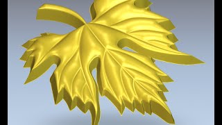 Artcam. Моделирование листика винограда