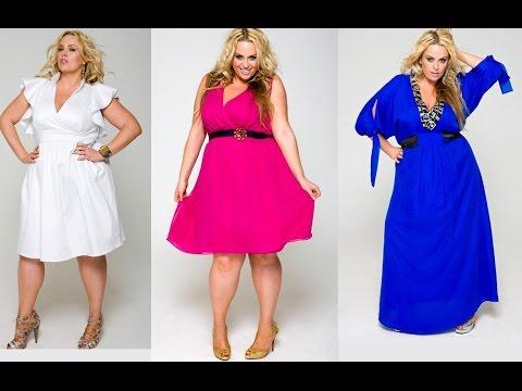 Модные платья для полных девушек (женщин)