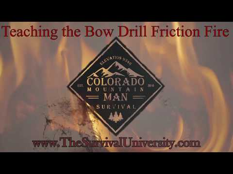 Bow Drill Friction Fire - Training a Student