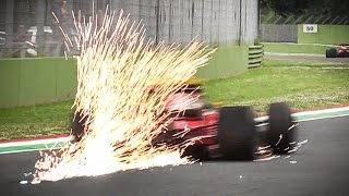 Ferrari 643 F1 Car V12 Sound at Imola Circuit - HUGE Sparks, Accelerations, Fly Bys & More!!