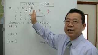 比の値の表し方について説明をしました。 学年別の学習は、朋徳学院学習...