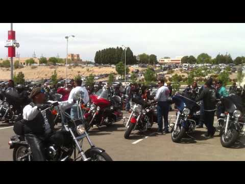 Native Bikers Arriving to Honour Navajo Code Talkers @ GON Gathering of Nations 2012