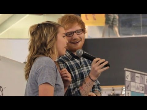 Ed Sheeran Surprises 13-Year-Old Fan by Joining Her Mall Performance