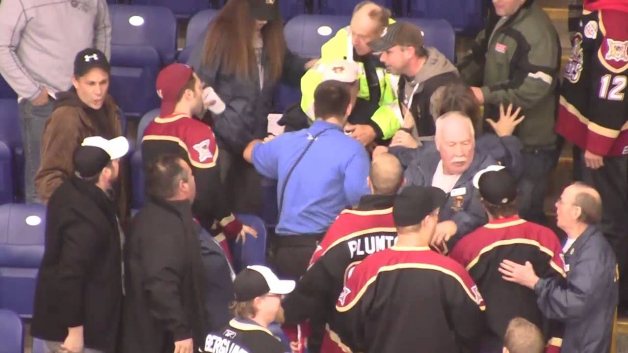 bchl fans fight youtube