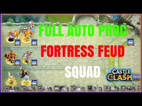 FULL AUTO PROC FORTRESS FEUD TEAM - CASTLE CLASH