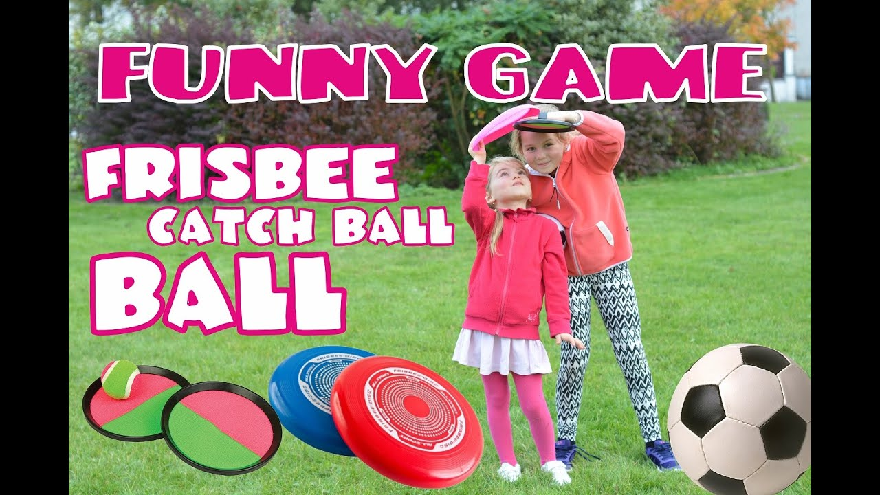 funny game ewa and sonia play frisbee catch ball ball youtube