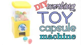 DIY Miniature Clay Toy Capsule/Gashapon Machine Tutorial
