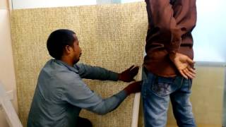 How to paste wallpaper on glass