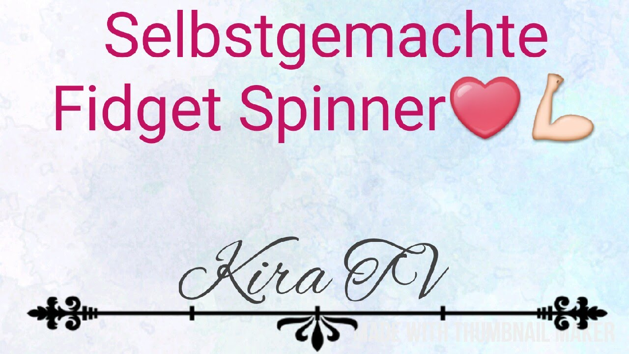 fidget spinner selber machen mit kugellager kira tv. Black Bedroom Furniture Sets. Home Design Ideas