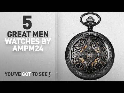 Top 10 Ampm24 Men Watches [ Winter 2018 ]: AMPM24 Steampunk Black Copper Case Skeleton Mechanical