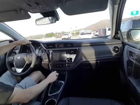 Смотреть видео 2017 Toyota Corolla Se 6 Sd Manual Driving онлайн скачать на мобильный