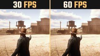 Red Dead Redemption 2 30 FPS vs. 60 FPS