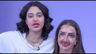 BLINDFOLD MAKEUP CHALLENGE   Randa Hajjaj VS Layali Dehrab   Boutiqaat