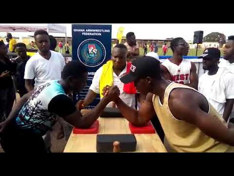 Armwrestling at Ghana Telecom University Games