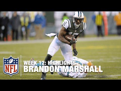 Brandon Marshall Highlights (Week 12) | Dolphins vs. Jets | NFL