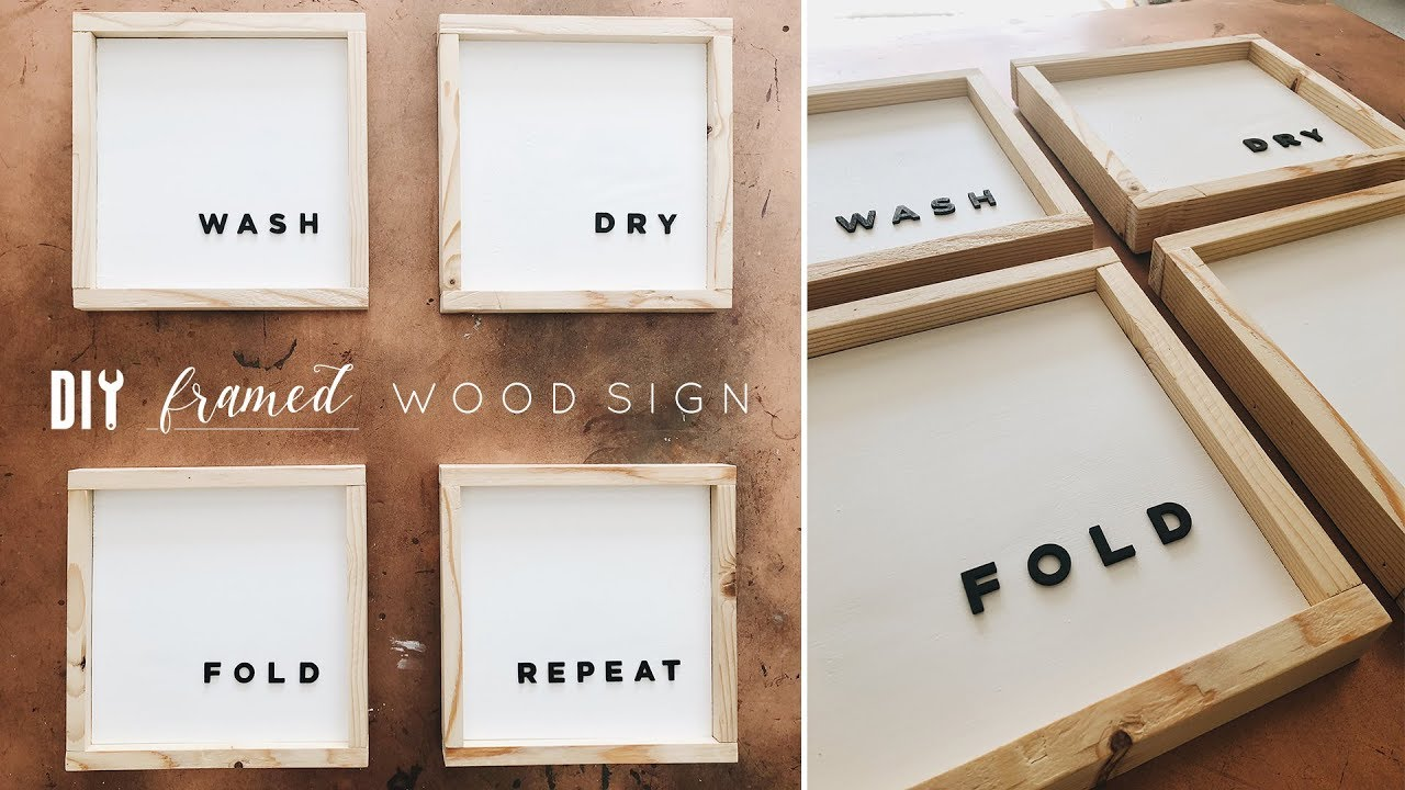 Diy Framed Wood Wall Art