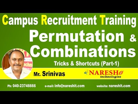 Permutation and Combinations Formulas and Tricks Part 1 | Campus Recruitment Training | CRT Training