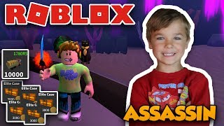 ROBLOX ASSASSIN | 1 V 1 AGAINST MY DAD! | 15k COINS ELITE CASE OPENING