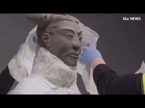 Terracotta Warriors arrive in UK from China for first time in decade | ITV News