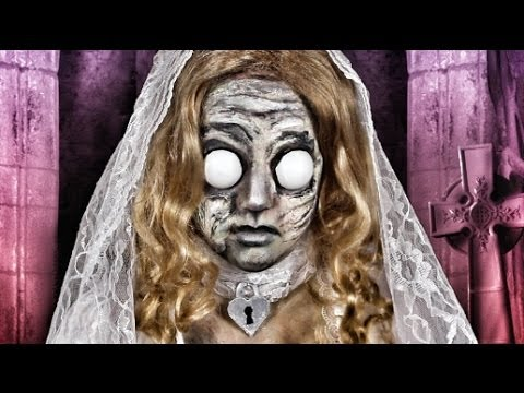DEAD BRIDE DOLL MAKEUP TUTORIAL!