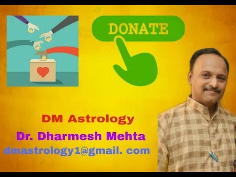 Importance of Donation in Vedic Astrology by Dr.Dharmesh Mehta