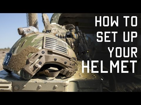 How To Setup Your Helmet For Combat | Special Forces Technique | Tactical Rifleman