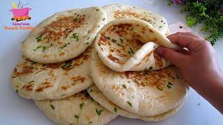 El pan turco sin horno es el pan más delicioso y fácil que jamás haya preparado. Suave y esponjoso