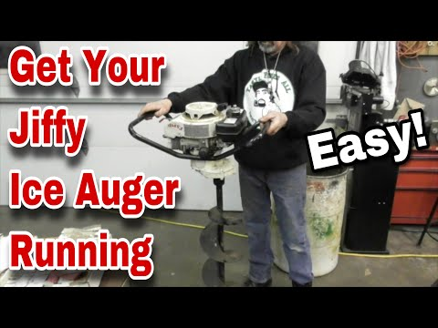 How To Fix A Jiffy Ice Auger (Ice Drill) That Won't Start - with
