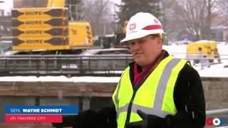 Sen. Schmidt tours the Soo Locks