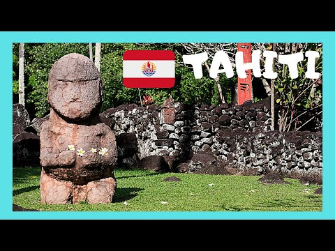 TAHITI, the ancient sacred religious sites (marae) in the Pacific Ocean