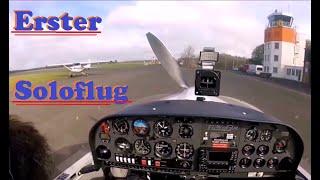 Flugausbildung: Erster Soloflug als Flugschüler  / My First Solo Flight / 1. Solo / Flight Student