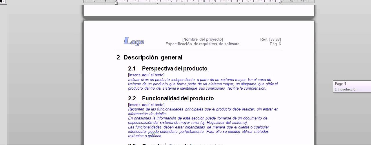 plantilla de especificacion de requerimientos - YouTube