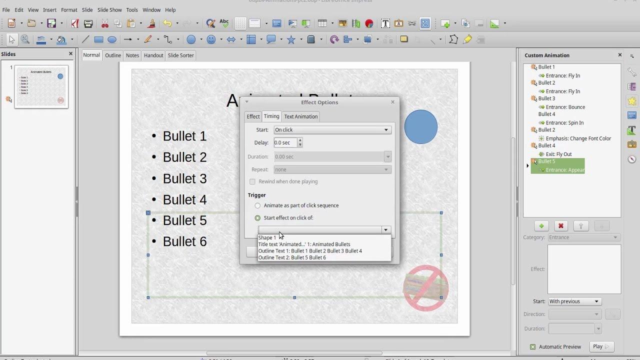LibreOffice: Impress 9 - Custom Animations