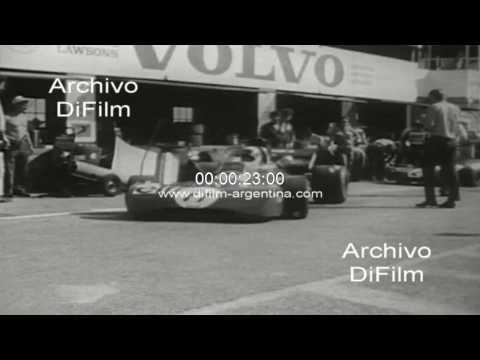 Pruebas de neumaticos para el Gran Premio de Sudafrica 1972