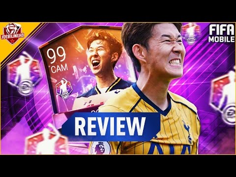 FIFA MOBILE 99 CAM POTM SON REVIEW #FIFAMOBILE CAM 99 POTM SON PLAYER REVIEW GAMEPLAY STATS