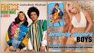 Boys/Finesse - Britney Spears x Pharrell Williams x Bruno Mars x Cardi B   JustinBeats