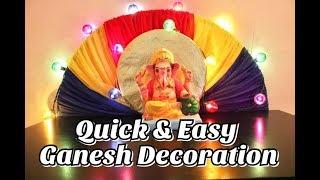 Quick & Easy Ganesh Decoration Idea 2 || HC#32