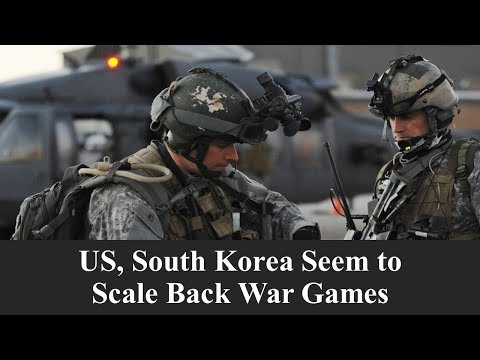 Learn English with VOA News - US, South Korea Seem to Scale Back War Games