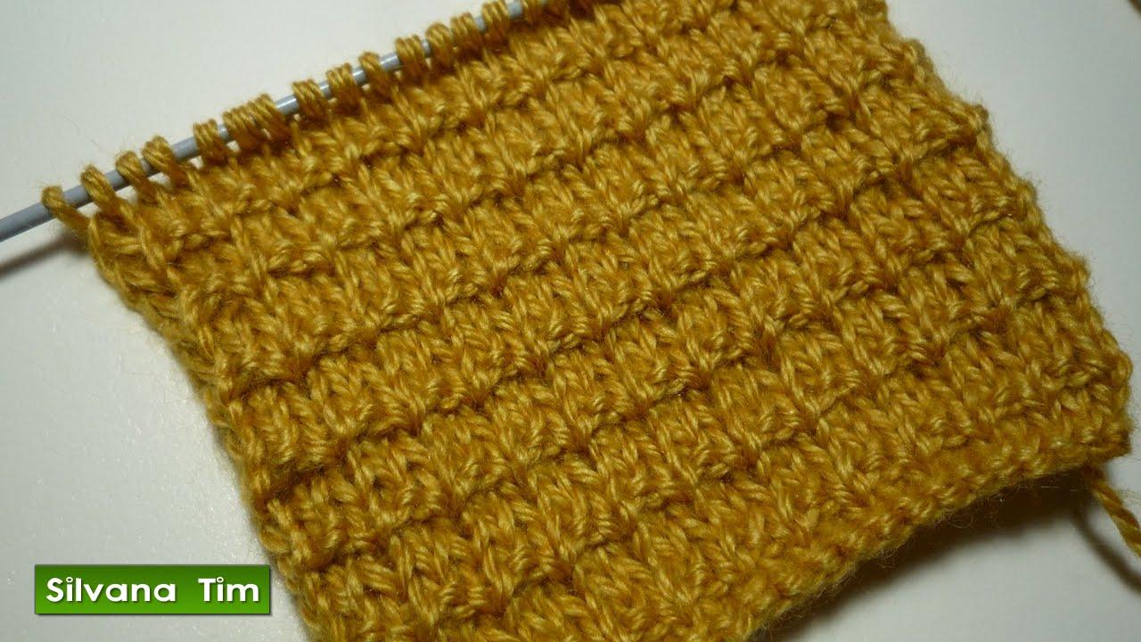 Punto simple para principiantes tejido con dos agujas - Puntos faciles para tejer con dos agujas ...