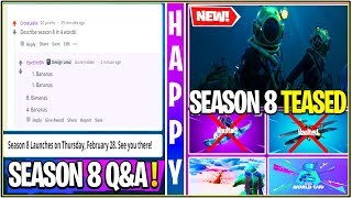 *NEW* Fortnite: EPIC Games Q&A! Season 8 Teased/Theme, Planes Vaulted/OLD POI's Returning, & MORE!