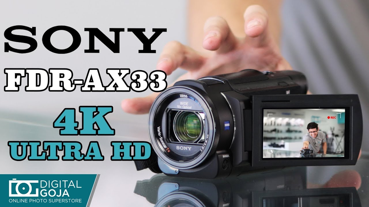 Sony Fdr Ax33 4k Ultra Hd Video Handycam Camcorder Unboxing Overview Youtube